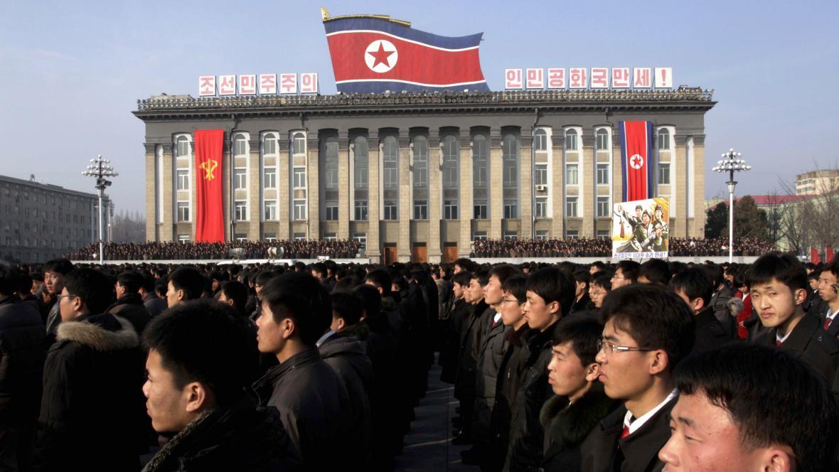 Demonstrace v Pchjongjangu