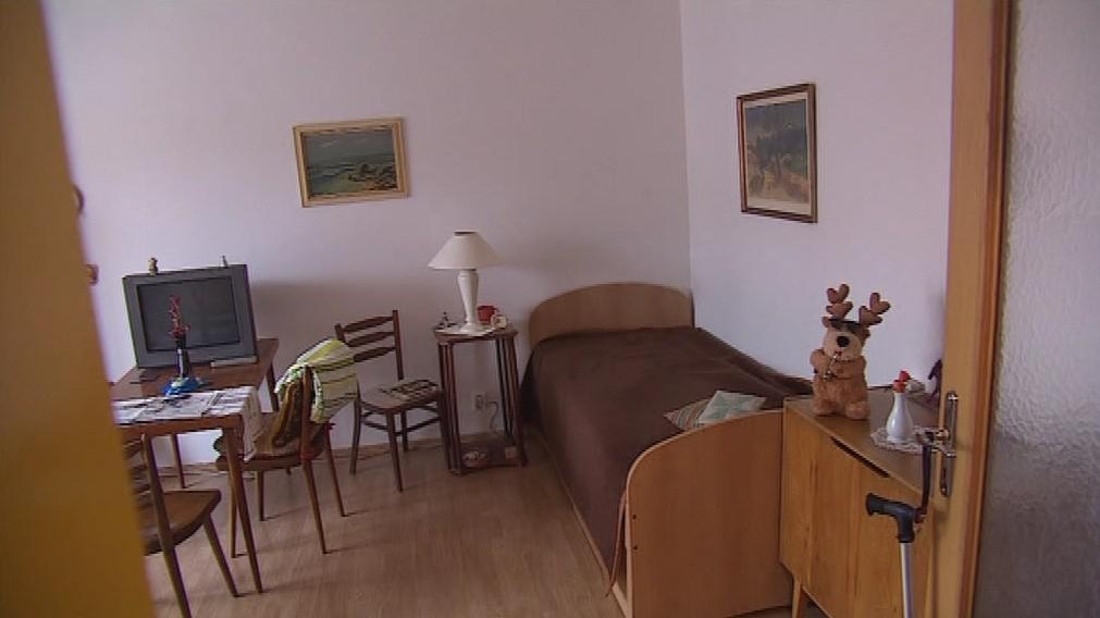 Pokoj v domově pro seniory