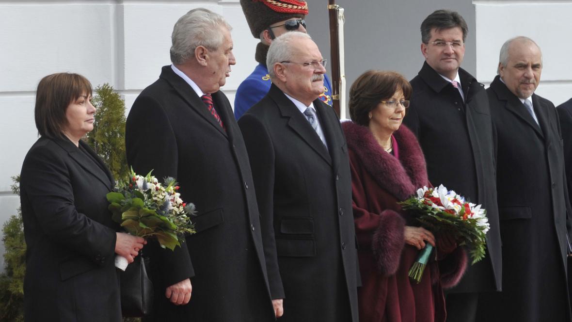 Slovenský a český prezidentský pár