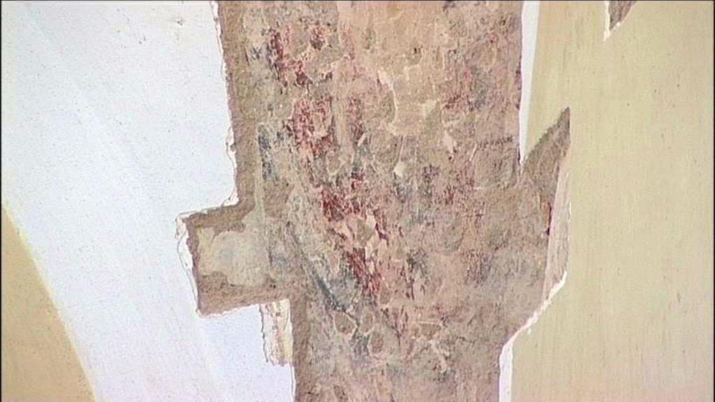 Kostel v Hrozové na Osoblažsku, nástěnná malba z 13. století