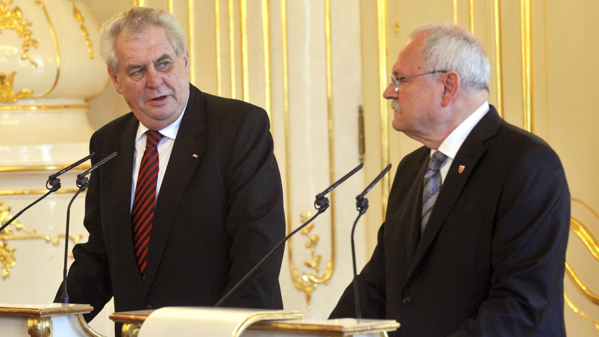 Miloš Zeman a Ivan Gašparovič