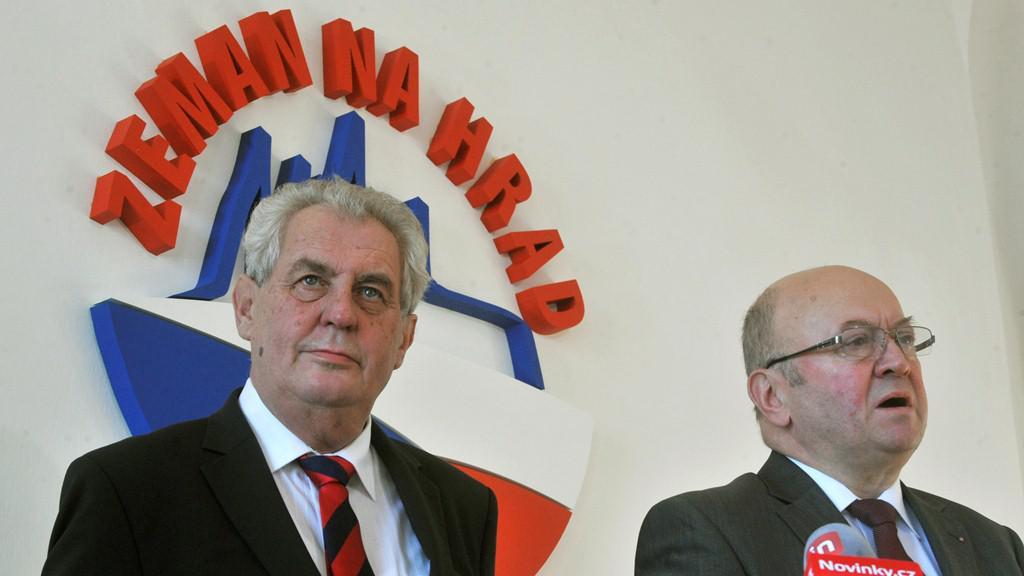 Miloš Zeman ve štábu KSČM