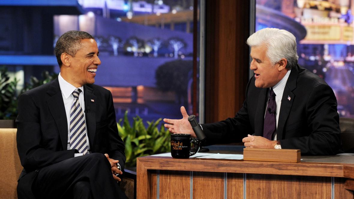 Jay Leno zpovídá Baracka Obamu