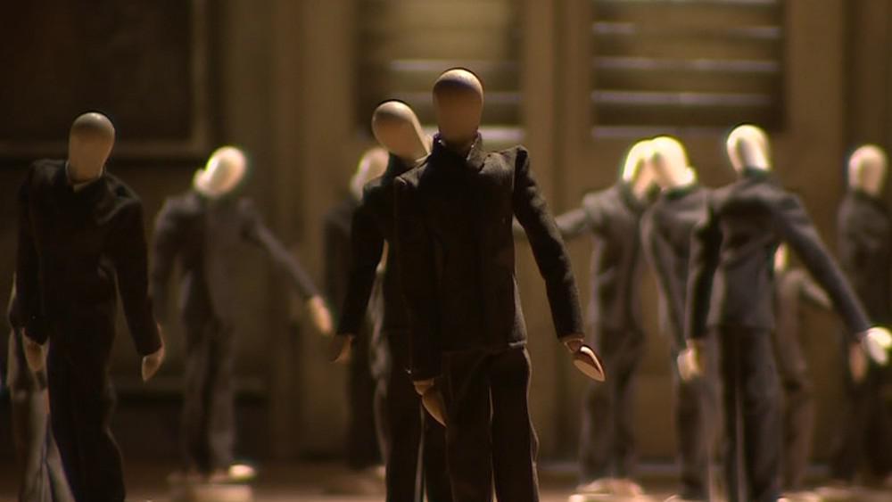 Scéna popisující Juráčkovu práci na filmu Případ pro začínajícího kata