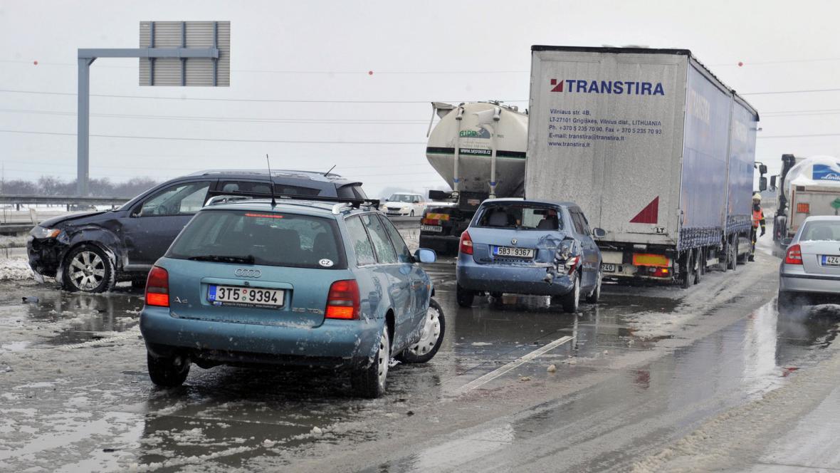 Dopravní komplikace na dálnici D1