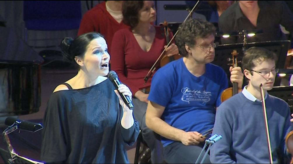 Tarja Turunenová zkouší na zítřejší koncert