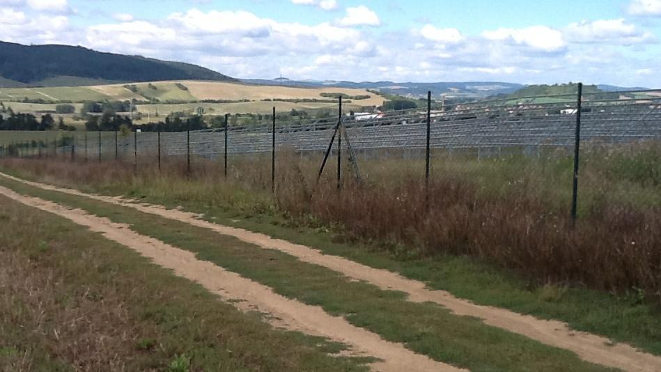 Solární elektrárna u Ráječka