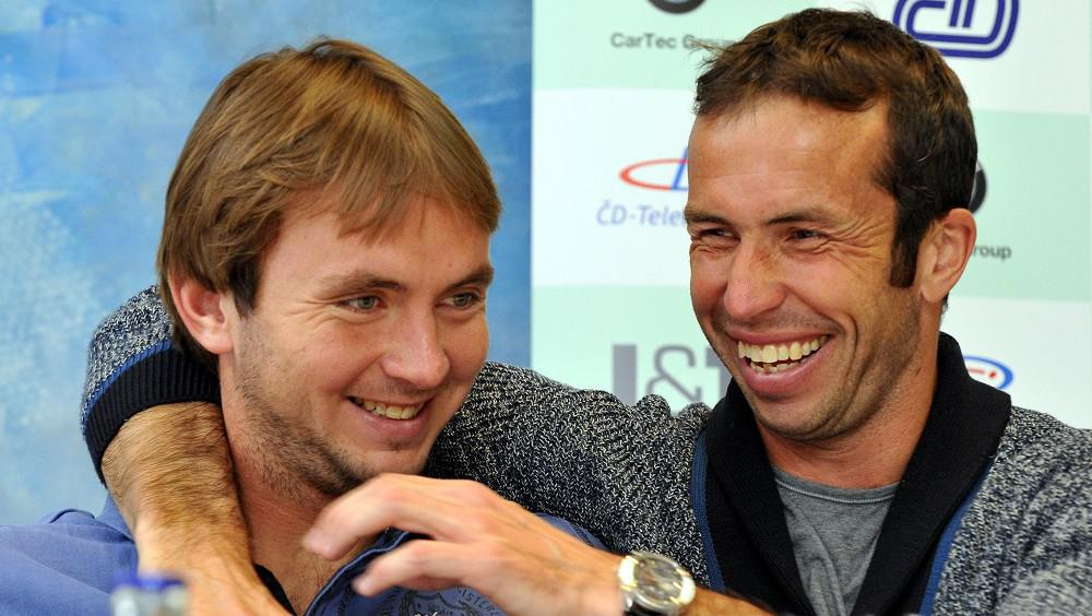 Ivo Minář (vlevo) a Radek Štěpánek