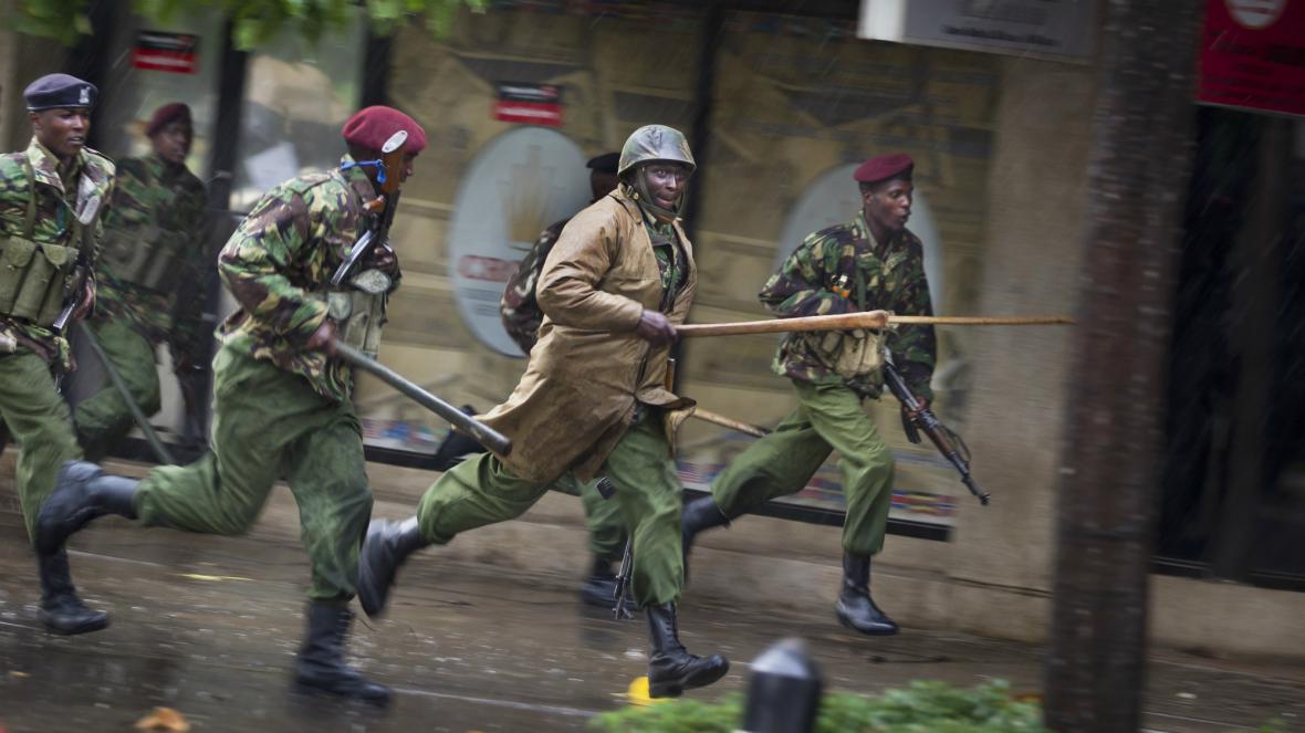 Zásah keňské policie