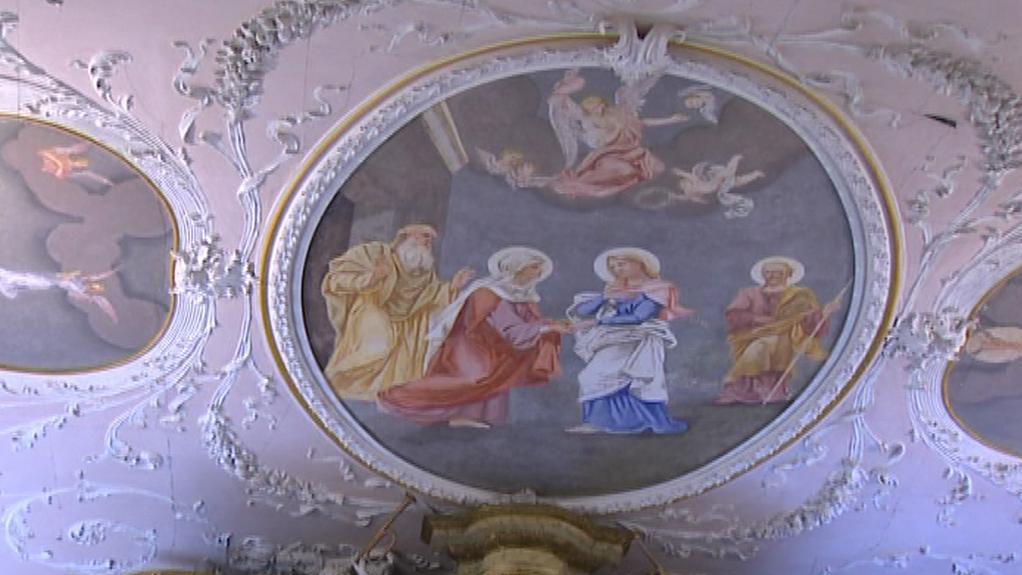 Výzdoba v klokotském kostele