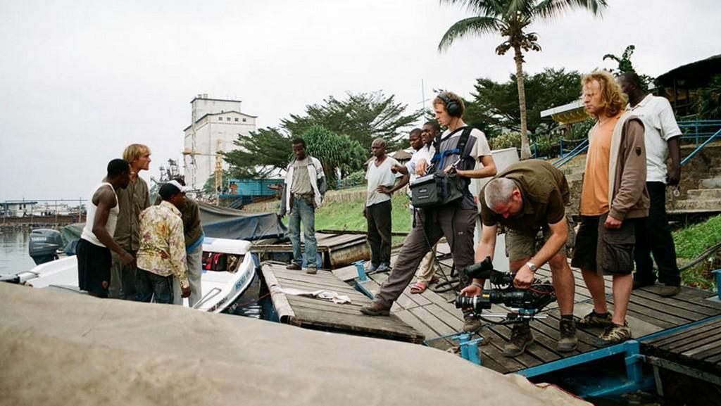 Natáčení Rybích legend v Kongu