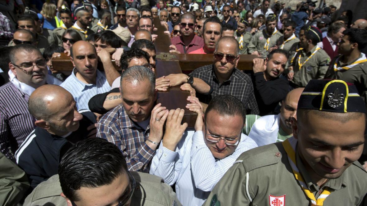 Jeruzalém slaví Velký pátek