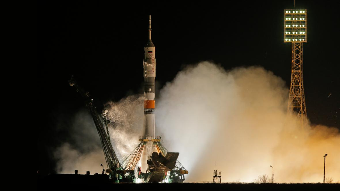 Start Sojuzu TMA-08M