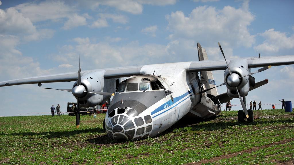 Havarovaný ruský Antonov