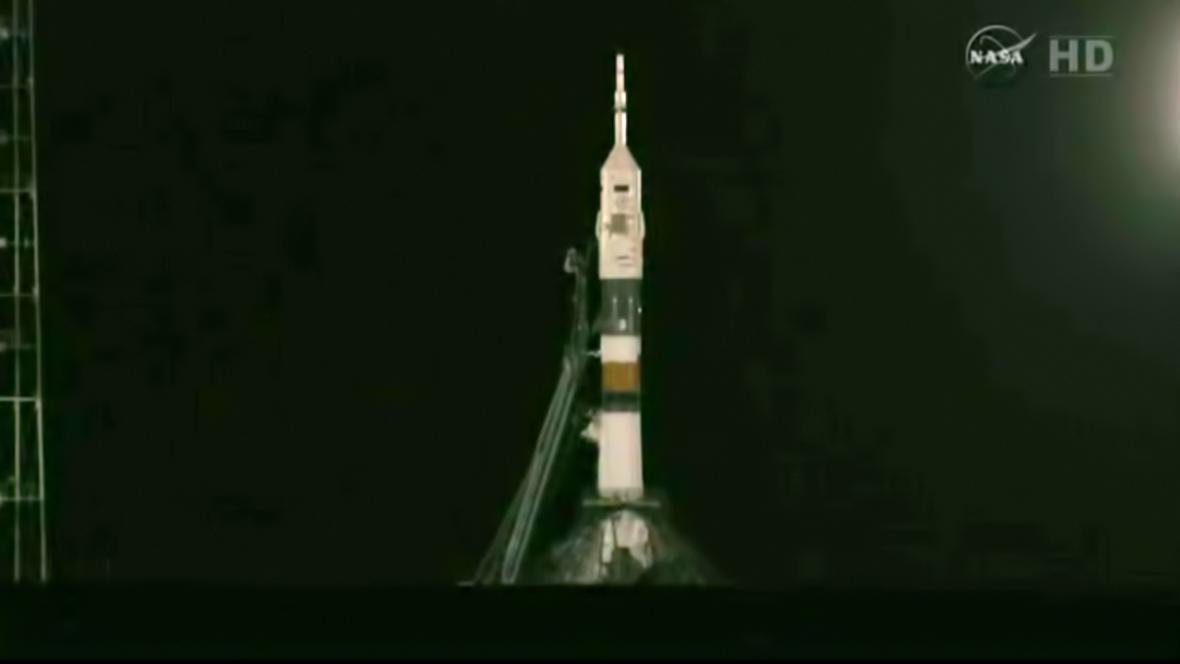 Vesmírná loď Sojuz TMA-08M před startem
