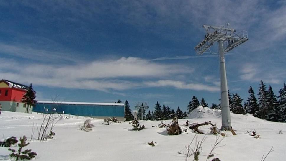 Nedokončená lanovka v Krušných horách