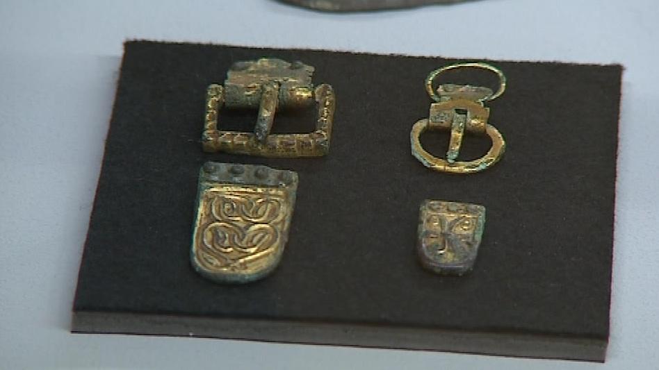 Vystavené předměty z cyrilometodějské doby