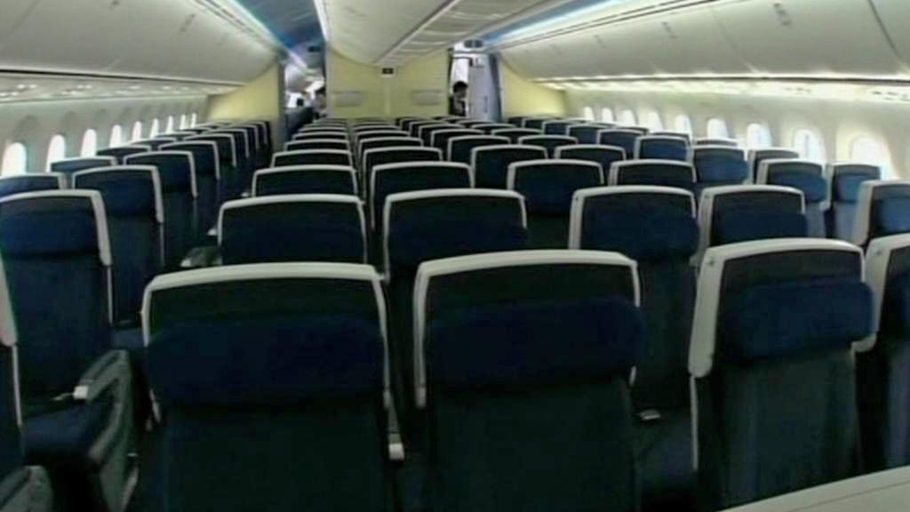 Interiér letounu Dreamliner