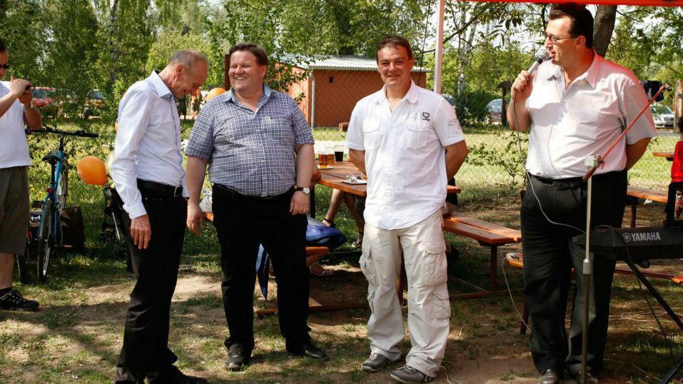 Radim Már (druhý zprava) s vedením jihomoravské ČSSD