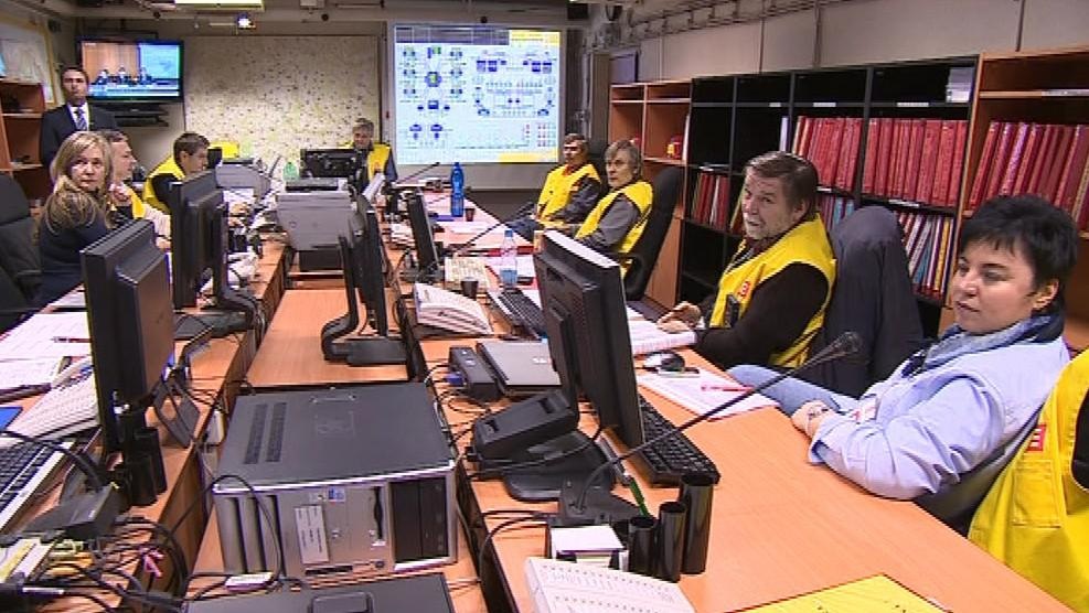 Havarijní štáb v Jaderné elektrárně Dukovany
