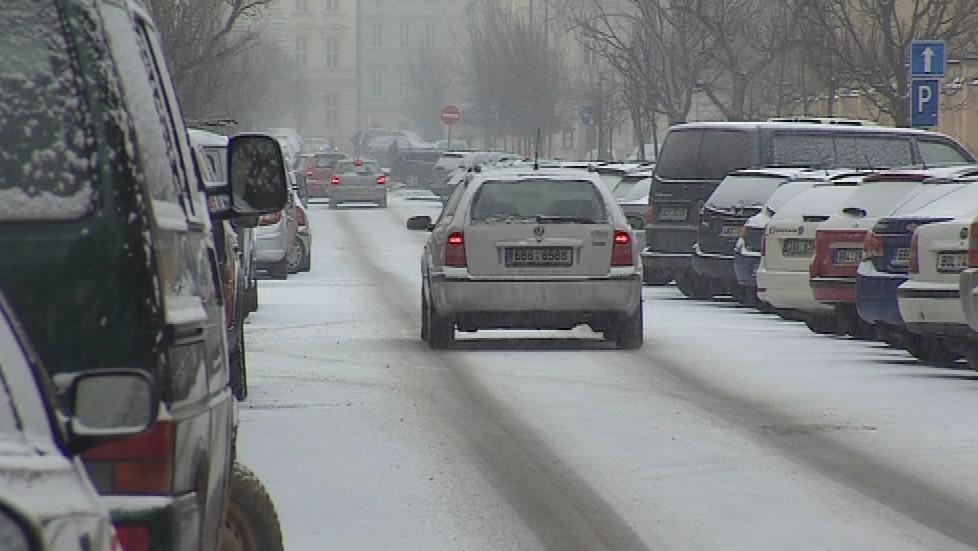 Sníh v ulicích Brna