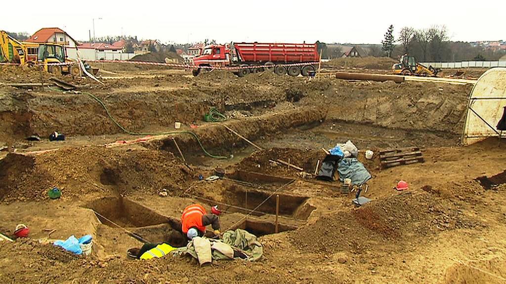 Archeologické naleziště v Dolních Břežanech