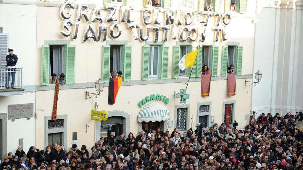 Castel Gandolfo přivítalo Benedikta XVI.