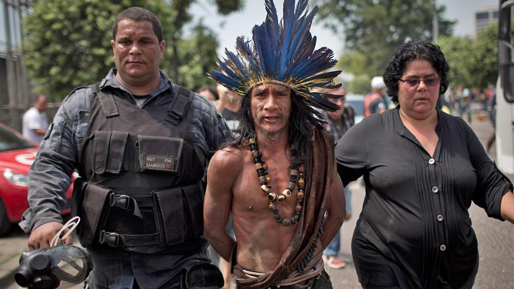 Brazilská policie zadržela indiánského squattera