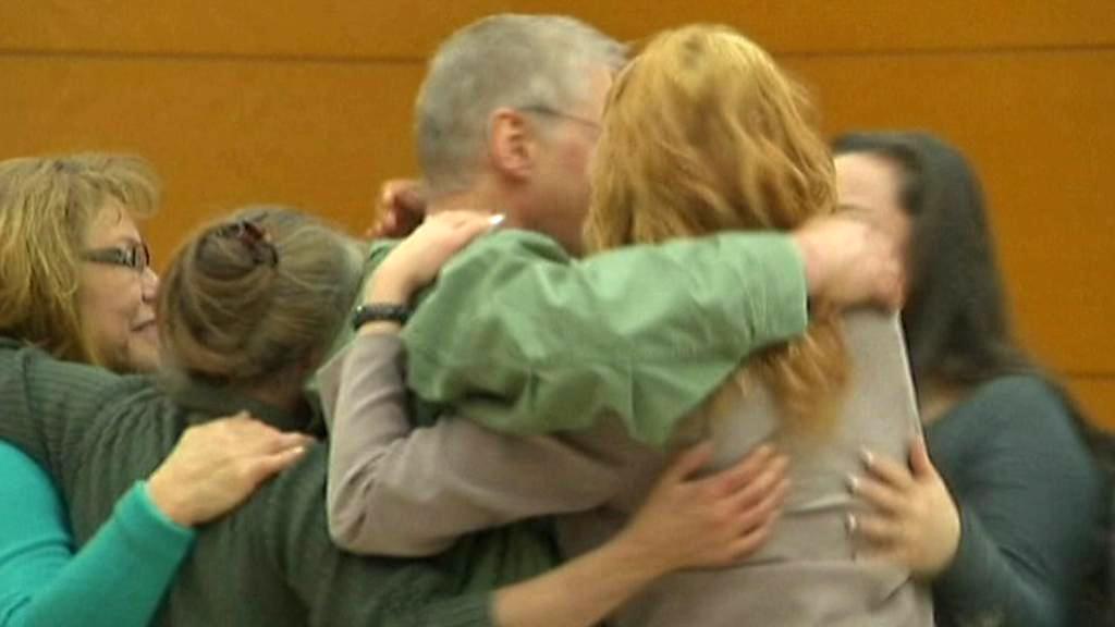 David Ranta se vítá s rodinou