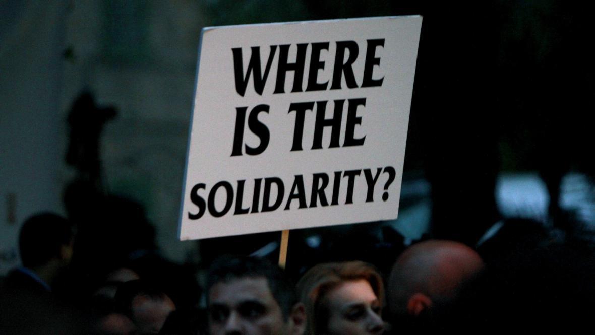 Protestující Kypřané