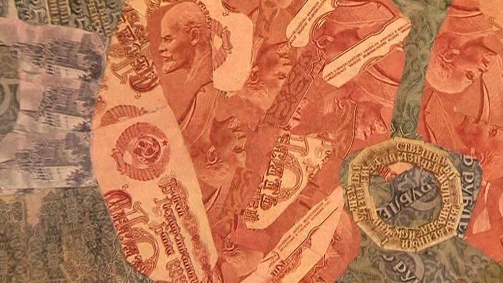 Koláž z bankovek
