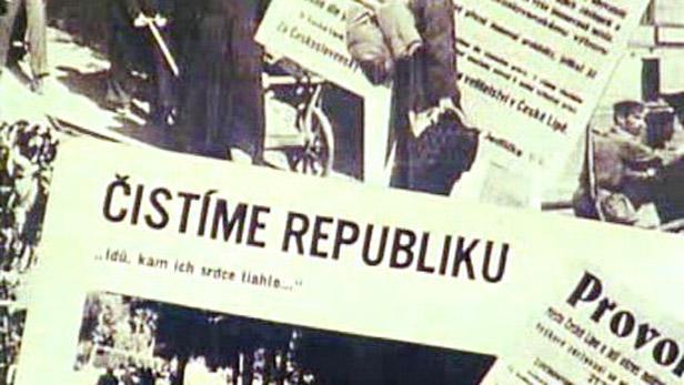 Odsun Němců na stránkách novin