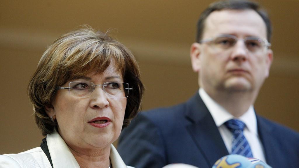 Ludmila Müllerová a Petr Nečas