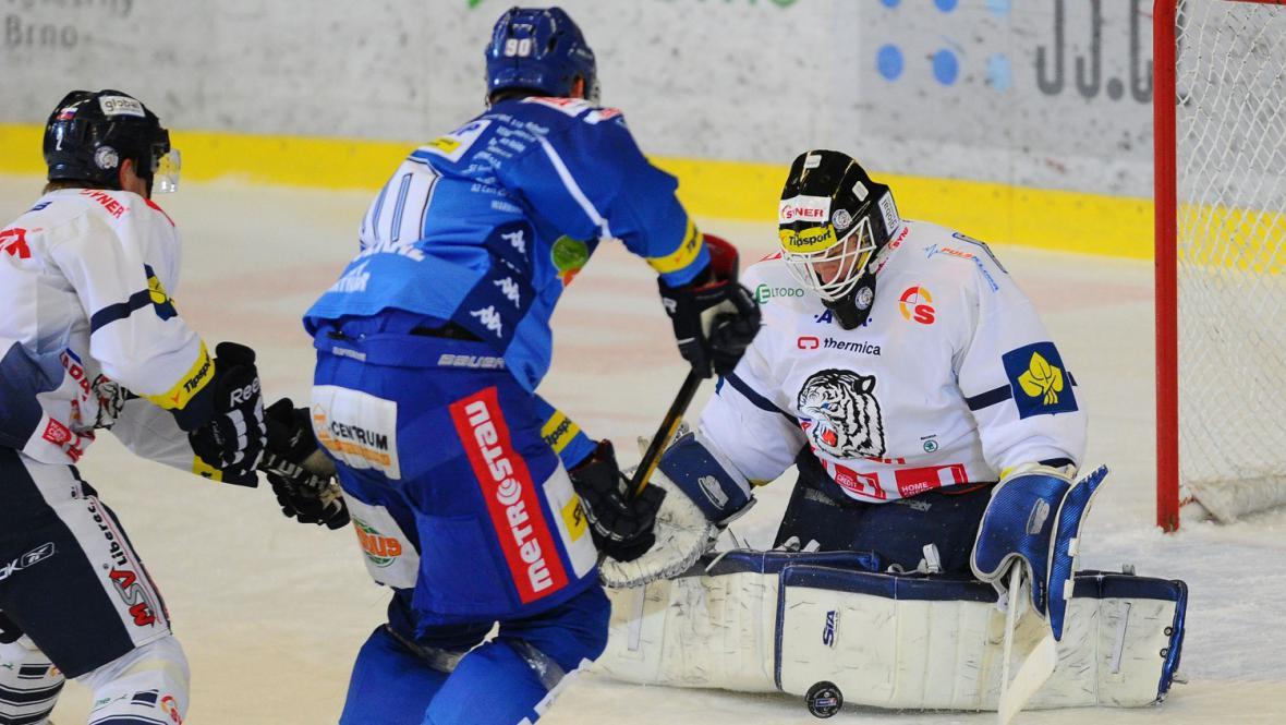Marek Shwarz v utkání Brno - Liberec