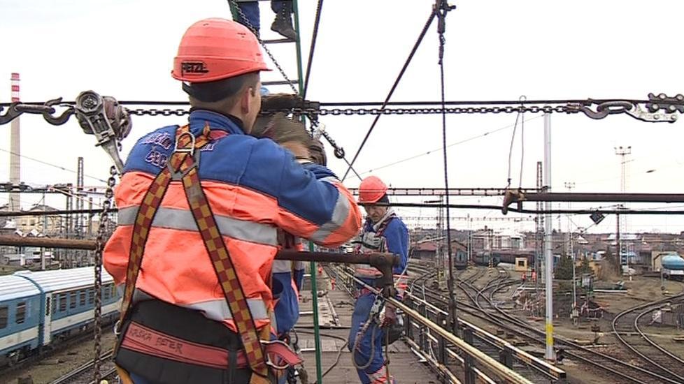 Opravy břeclavského nádraží