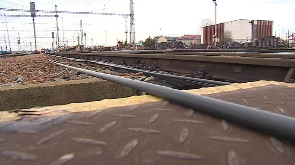 Trakční vedení na břeclavském nádraží