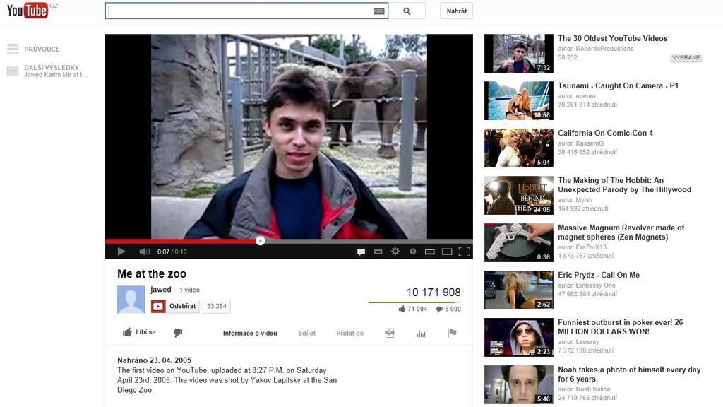 První video na YouTube
