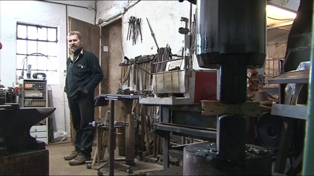 Radomír Bárta ve staré kovárně
