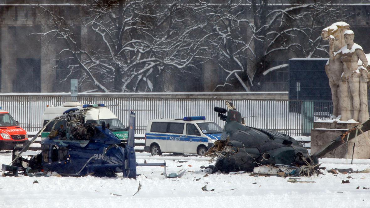 Havárie vrtulníků u olympijského stadionu v Berlíně