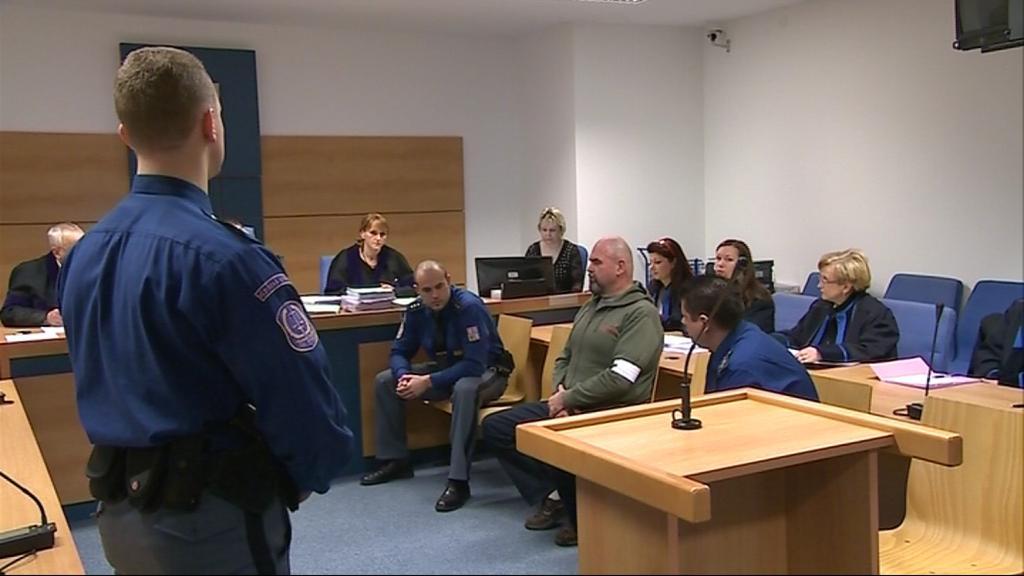 Jeden z vyděračů - Jaroslav Pavlík - před soudem