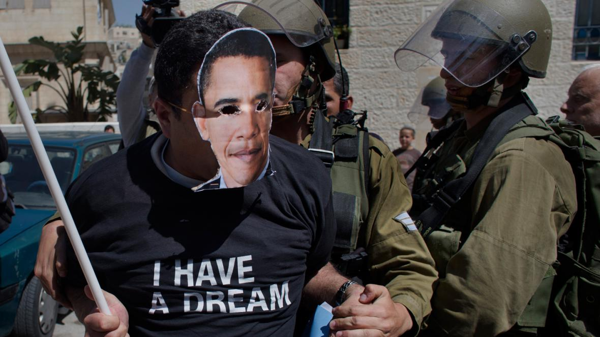 Demonstrace v Hebronu