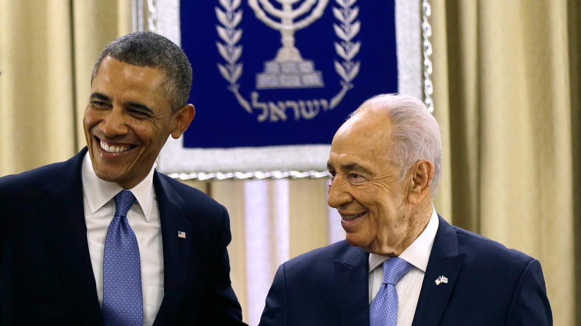 Barack Obama a Šimon Peres