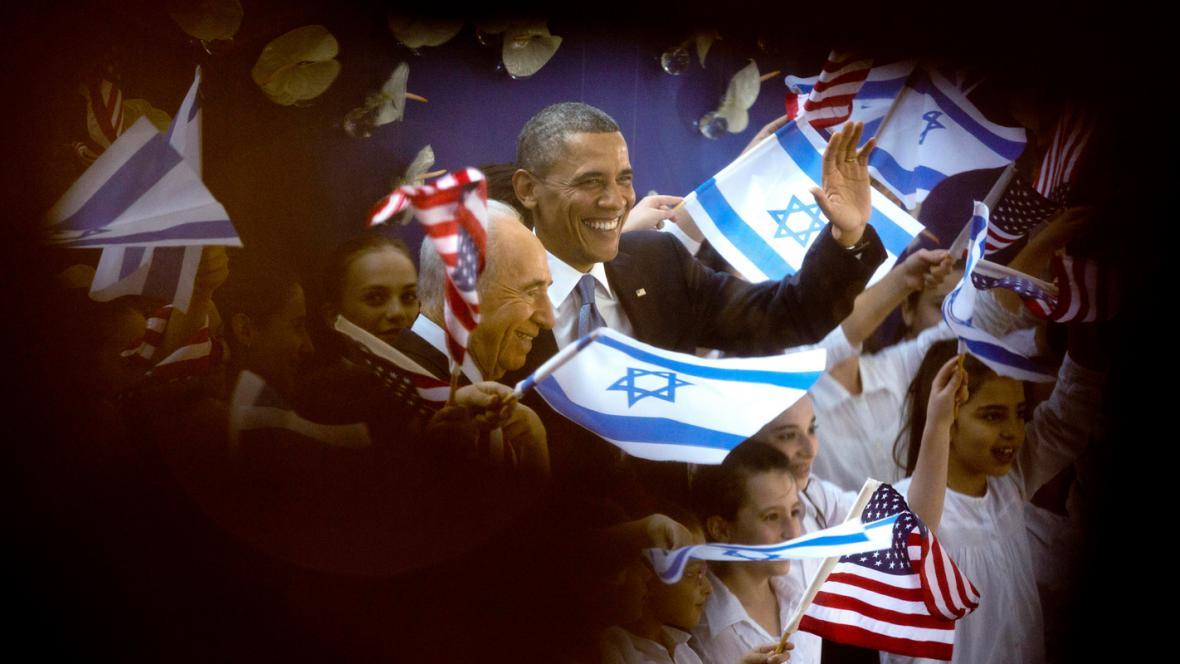 Šimon Peres a Barack Obama