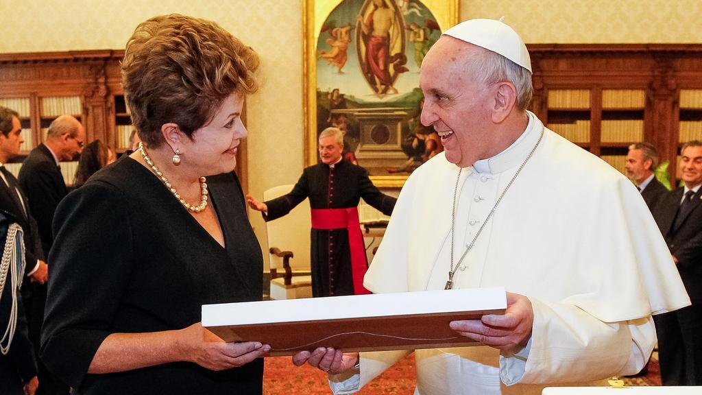 František se setkal s brazilskou prezidentkou