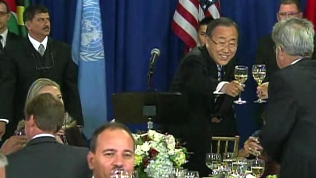 Přípitek v OSN