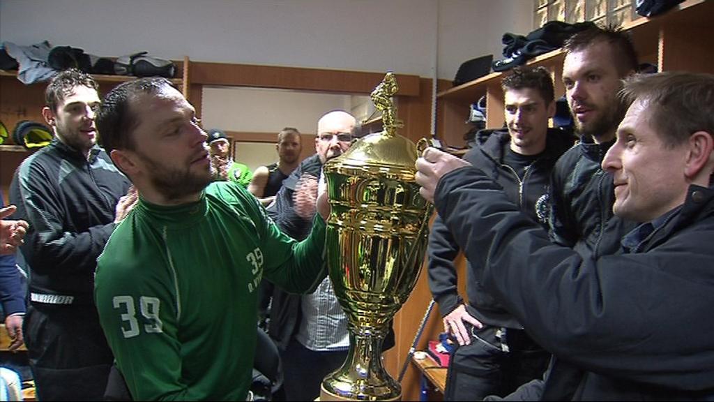 Hráči Mladé Boleslavi převzali pohár pro vítěze první ligy