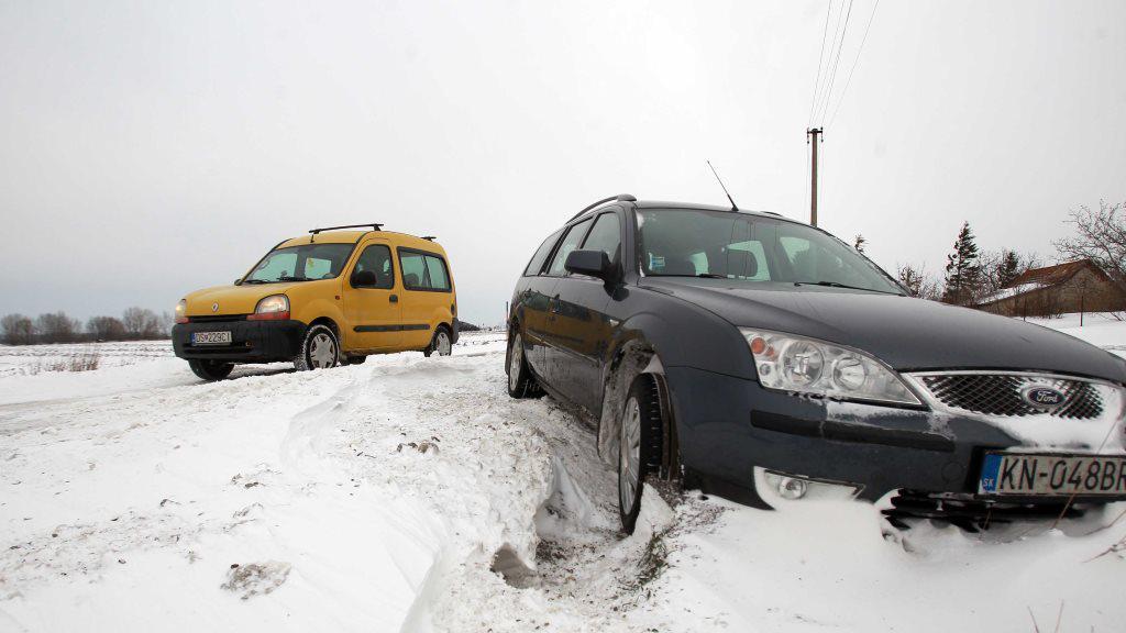 Zapadlé auto na Slovensku
