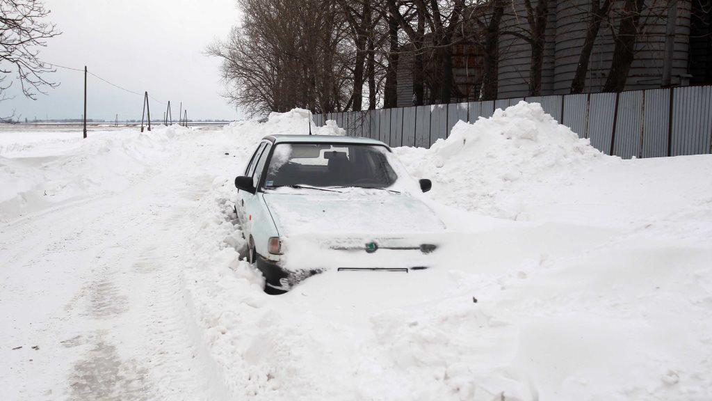 Zpadané auto na Slovensku