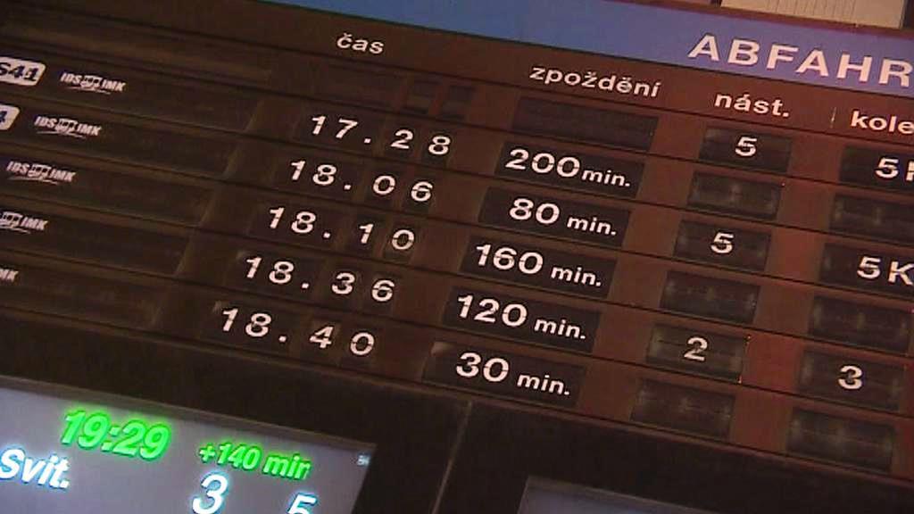 Zpoždění vlaků
