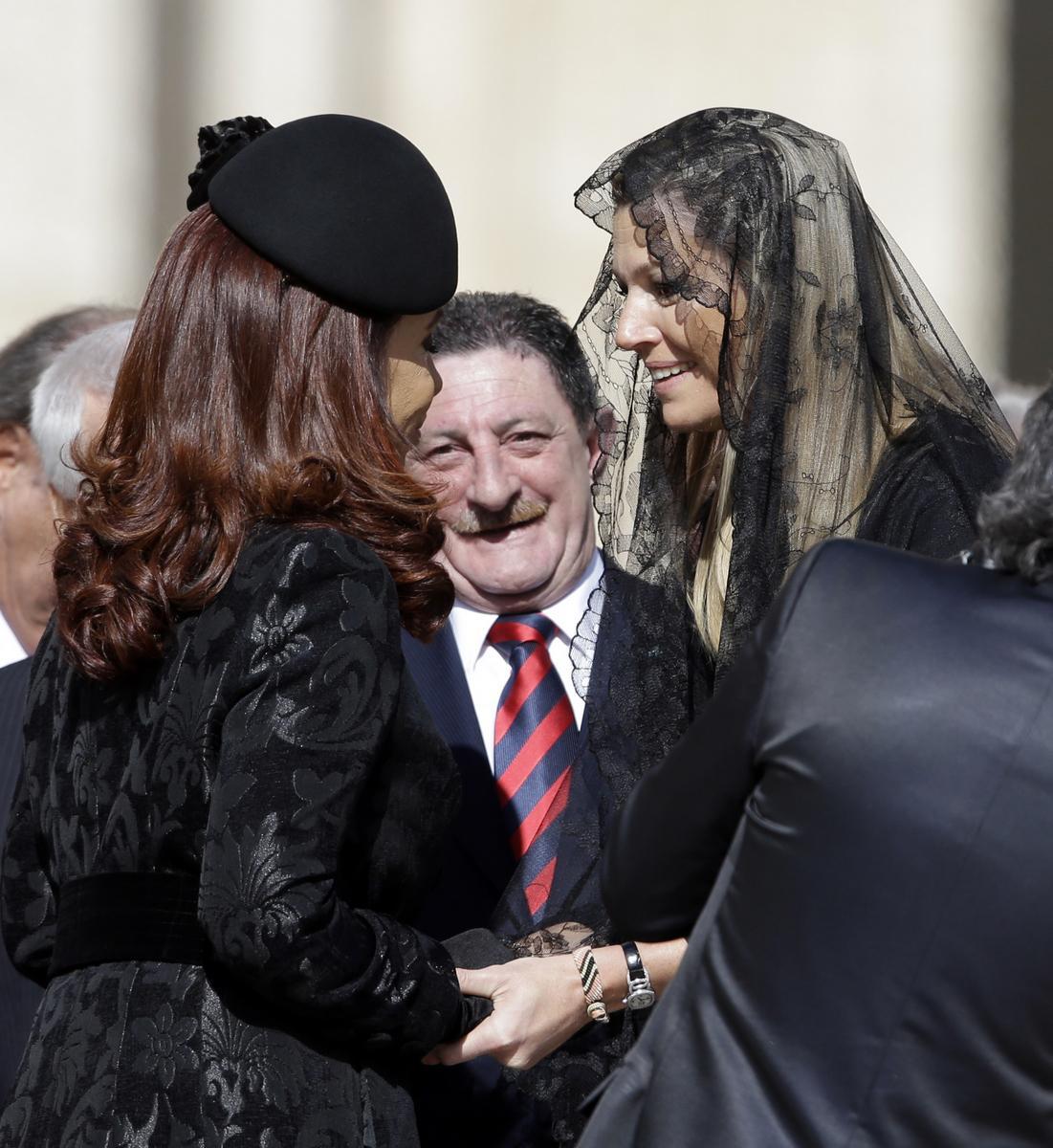 Christina Fernándezová a princezna Maxima